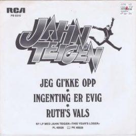Jahn Teigen – Jeg gi'kke opp (signert)